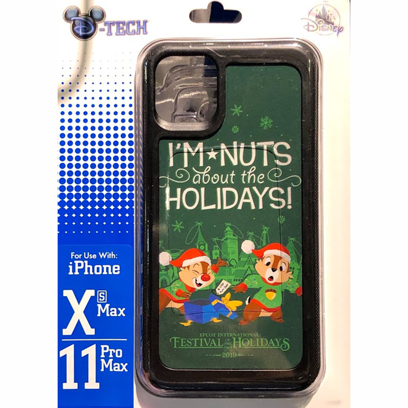 Disney Iphone Xs Max 11 Pro Max Phone Case Chip Dale I M Nuts About The Holidays Epcot Festival Of The Holidays 2019