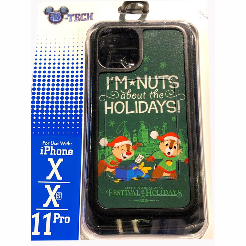 Disney Iphone X Xs 11 Pro Phone Case Chip Dale I M Nuts About The Holidays Epcot Festival Of The Holidays 2019