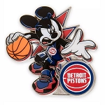 Disney Pin - Mickey Mouse NBA Experience Pin – Detroit Pistons