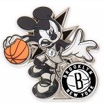 Disney Pin - Mickey Mouse NBA Experience Pin – Brooklyn Nets
