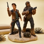 Disney Medium Figure - Han Solo and Chewbacca Figurine – Limited Edition 1400