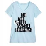Disney Women's Shirt - Do You Want To Build A Snowman - Frozen