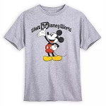 Disney Adult Shirt - Mickey Mouse - Heathered T-Shirt