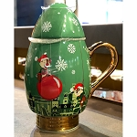 Disney Coffee Cup Mug w/ Lid - Christmas Bulb - Epcot Festival of the Holidays - Chip & Dale