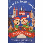 Disney iPhone 6s Plus / 7 Plus / 8 Plus Phone Case - Epcot Festival of the Holidays 2019 - PASSHOLDER - Joy To The Small World