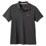 Disney Men's Shirt - Mickey Mouse - Pique Cotton Polo - Charcoal
