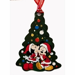 Disney Ornament w/ Map & Stickers - Chip & Dale's Christmas Tree Spree 2019 - Mickey & Minnie - Epcot Festival of the Holidays
