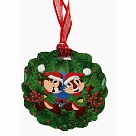 Disney Ornament w/ Map & Stickers - Chip & Dale's Christmas Tree Spree 2019 - Chip & Dale - Epcot Festival of the Holidays