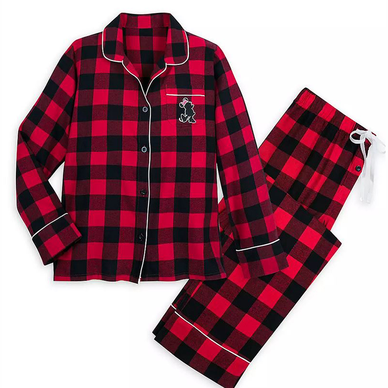 Disney Women's Pajama Set - Holiday Plaid