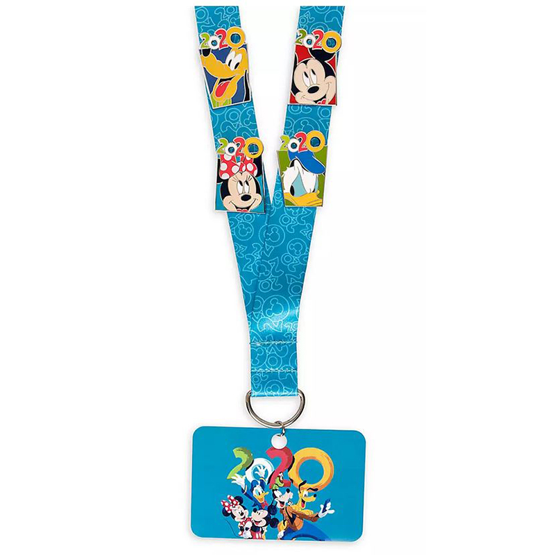 Disney Pin Starter Set w/ Lanyard - Mickey & Friends - Walt Disney World 2020 Logo