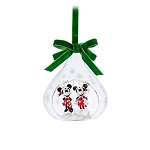 Disney Sketchbook Ornament - Mickey and Minnie Mouse Glass Drop - 2019