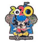 Disney Pin - Mickey and Minnie Mouse at Cinderella Castle - Walt Disney World 2020