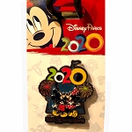 Disney Pin - Mickey and Minnie Mouse - Disney Parks 2020 Logo