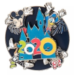 Disney Pin - Mickey Mouse & Friends - Walt Disney World 2020 Logo Spinner
