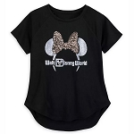 Disney Women's Shirt - Belle of the Ball Bronze - Minnie Mouse Ear Headband