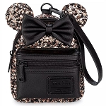 Disney Loungefly Bag - Minnie Sequined - Belle of the Ball Bronze