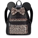 Disney Parks Loungefly Bag - Minnie Mouse - Belle of the Ball Bronze - Sequined Mini Backpack