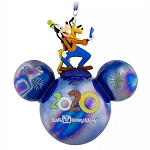 Disney Ornament - Mickey Mouse Icon Ball - Goofy & Pluto - Walt Disney World 2020 Logo