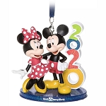 Disney Ornament - Mickey & Minnie Mouse – Walt Disney World 2020 Logo