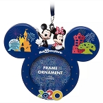 Disney Frame Ornament - Mickey & Minnie Mouse - Walt Disney World 2020 Logo