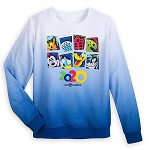 Disney Women's Sweatshirt - Mickey Mouse & Friends Ombre Pullover - Walt Disney World 2020 Logo
