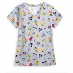 Disney Women's Shirt - Mickey Mouse & Friends - Walt Disney World 2020 Logo