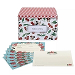 Disney Recipe Cards & Box Set - Mickey & Minnie Mouse - Retro
