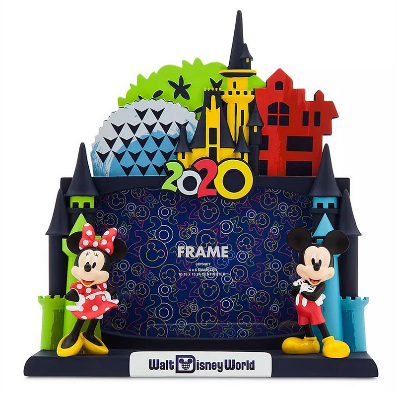 Disney Parks Walt Disney World Mickey Mouse 2019 Photo Frame Ornament Stand NWT