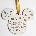 Disney Disc Ornament - Mickey Mouse Ears Icon - Christmas Day Parade 2019
