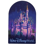 Disney Car Magnet - D-Tech - Walt Disney World - Cinderella Castle Night Fireworks