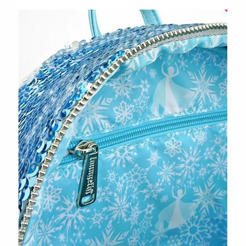 NEW Loungefly X Disney Frozen 2 Elsa Reversible Sequin Wallet NEW
