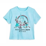 Disney Women's Shirt - Mickey Mouse and Friends Retro Souvenir T-Shirt