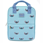Disney Loungefly Bag - Lilo & Stitch - Embroidered Canvas Square Mini Backpack