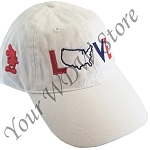 Disney Baseball Cap Hat - Epcot World Showcase - American Pavilion LOVE Mickey