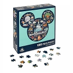 Disney Jigsaw Puzzle - Mickey Mouse Icon Walt Disney World Map