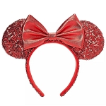 Disney Minnie Ear Headband - Red Sequin