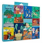 Disney Adult Socks - Mickey Mouse and Friends - Disney Parks 12 Days of Socks Set