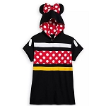 Disney Women's Shirt - Minnie Mouse Hooded Short Sleeve Pullover Top