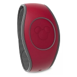 Disney MagicBand 2 Bracelet - Dark Red