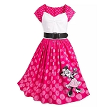 Disney Dress Shop Dress for Women - Minnie Mouse Polka Dot