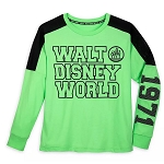 Disney Women's Pullover Shirt - Walt Disney World - Neon Green