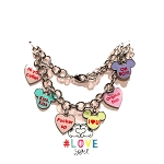 Disney Charm Bracelet - Mickey Mouse Icon Candy Hearts