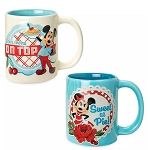 Disney Coffee Cup Mug Set - Mickey & Minnie Mouse - Retro