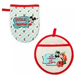 Disney Pot Holder Set - Mickey & Minnie Mouse - Retro