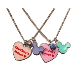 Disney Necklace Set - Mickey & Minnie Candy Hearts