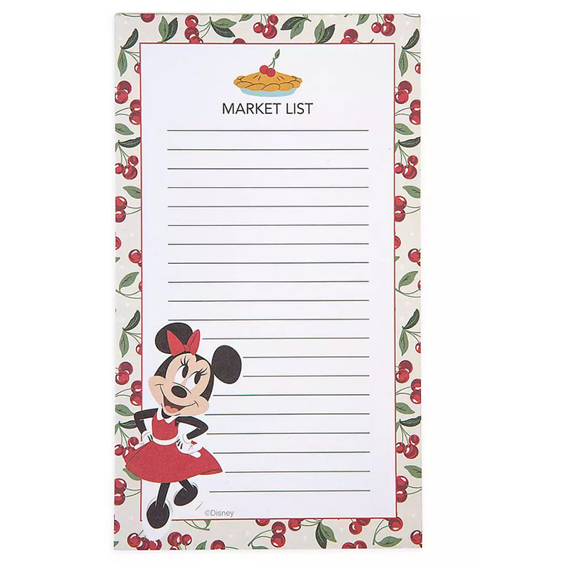 Disney Magnetic Notepad - Mickey and Minnie Mouse - Retro