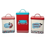Disney Kitchen Canister Set - Mickey and Minnie Mouse - Retro