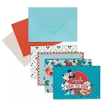 Disney Notecard Set - Mickey and Minnie Mouse - Retro