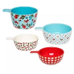 Disney Ceramic Measuring Cup Set - Mickey and Minnie Mouse - Retro