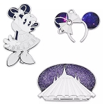 Disney Pin Set - Minnie Mouse The Main Attraction - Space Mountain - Limited Release